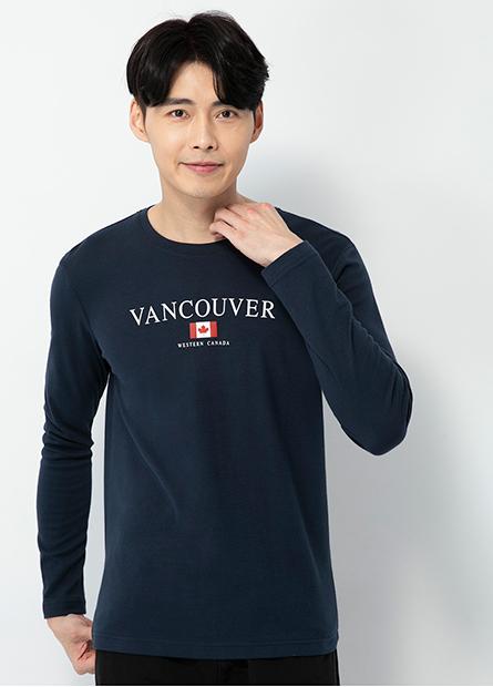 加拿大國旗圓領長袖T恤