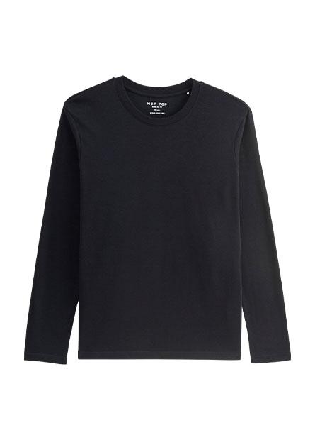 吸溼保暖圓領素面長袖T恤