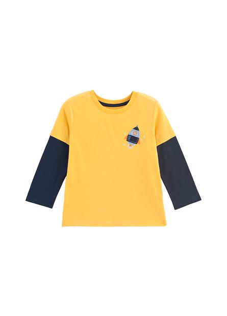 男嬰火箭印花接袖T恤