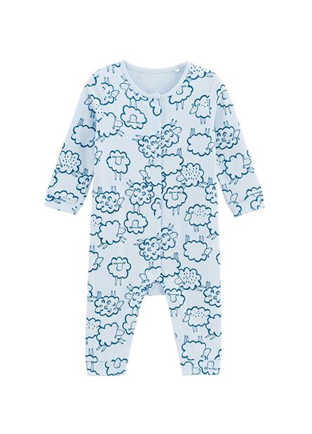 嬰兒滿版綿羊開釦連身衣