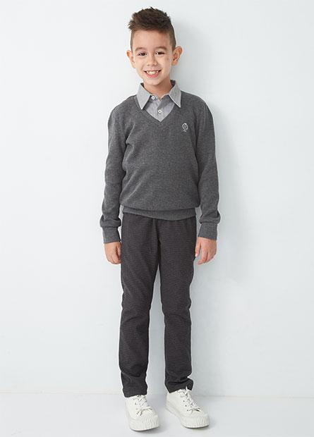 男童鬆緊腰修身直筒褲