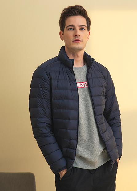 輕羽絨素色夾克