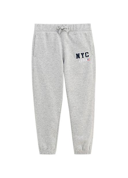 男童紐約印花休閒縮口褲
