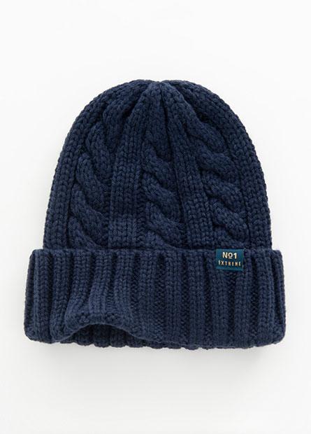 韓風針織反摺毛帽