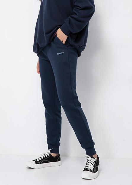 鬆緊綁帶膠印棉質束口褲