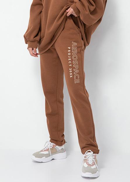 鬆緊綁帶反摺棉質長褲
