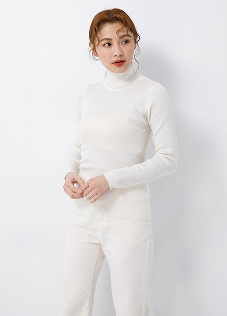 翻領羅紋薄針織毛衣