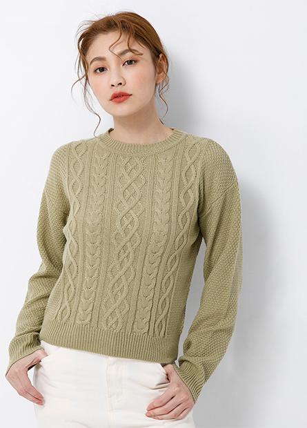 麻花鳳梨目針織毛衣