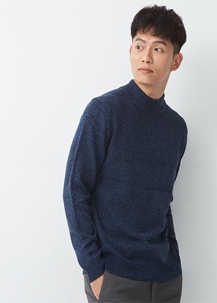 半高領針織毛衣