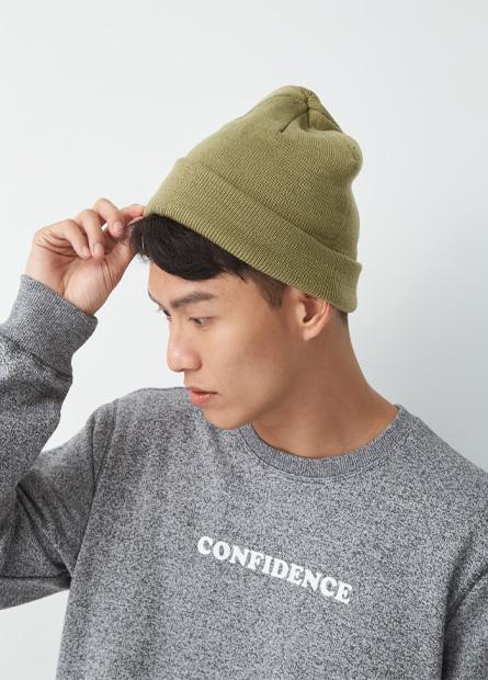 可反摺細針毛線帽