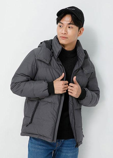 鋪棉可拆式連帽縮口夾克