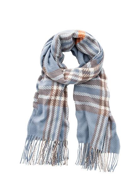 格紋流蘇圍巾(中性款)
