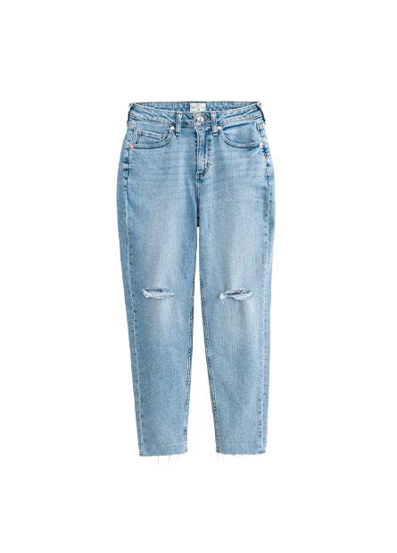 MOM FIT高腰錐形牛仔褲