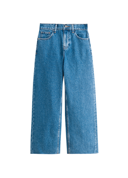 WIDE FIT高腰寬版牛仔褲