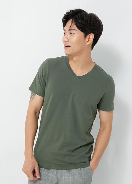 FORMOSA印字合身V領T恤