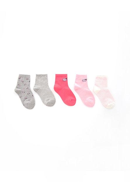 童造型短襪(五入)
