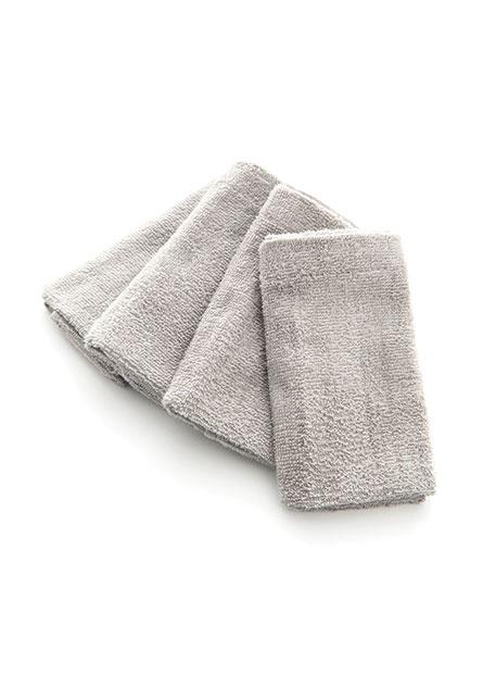 素色純棉方巾(四入)