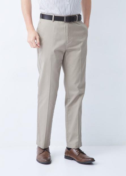經典紳士防皺休閒長褲