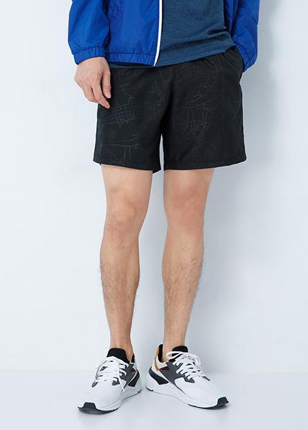 網布拼接運動短褲