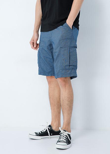 多口袋工作短褲