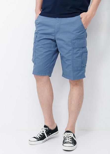 素面多口袋工作短褲