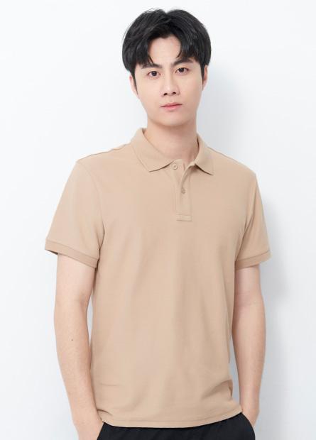 素面短袖POLO衫