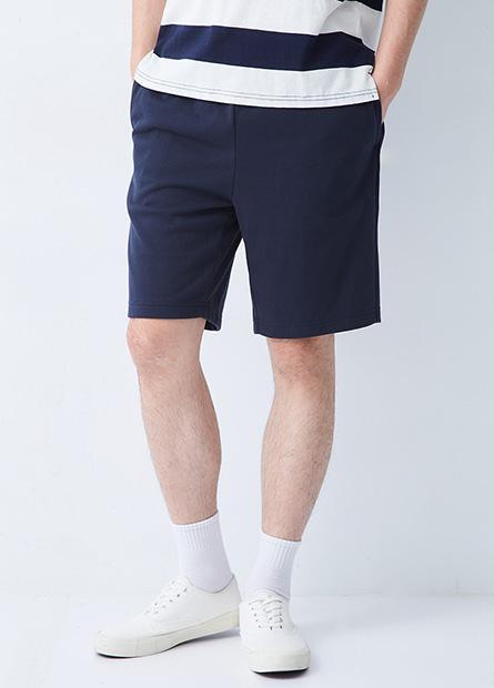 綁帶鬆緊腰運動短褲