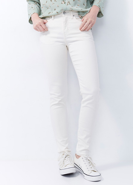 多色緊身牛仔褲