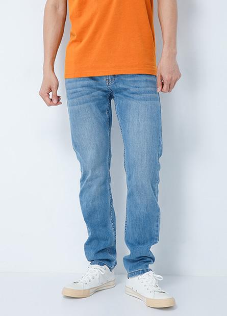 合身型牛仔長褲