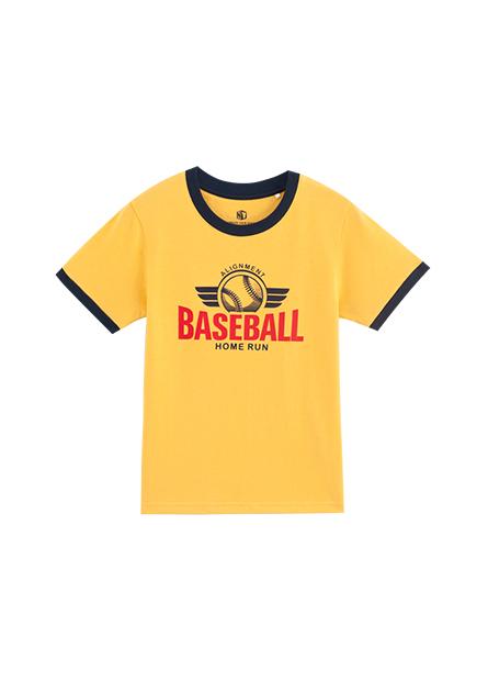 男童棒球聯盟印花T恤