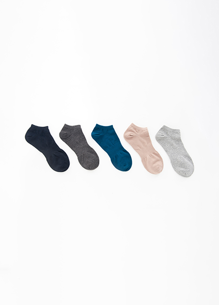 男基本踝襪(五入)