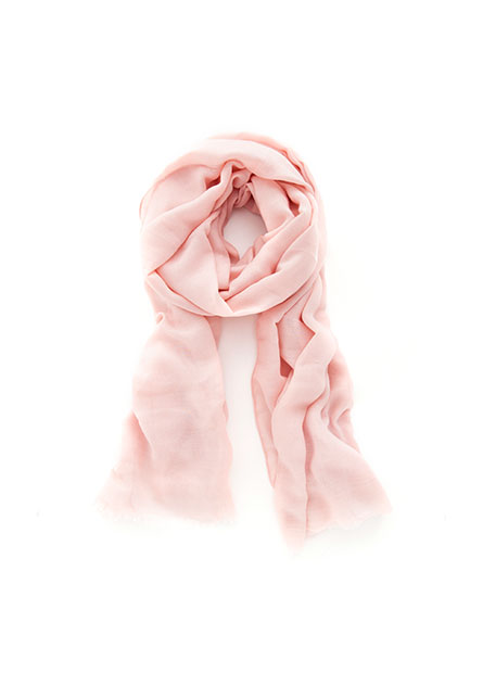 素色抽鬚絲巾