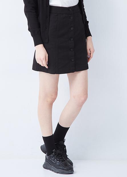 排釦A字短裙
