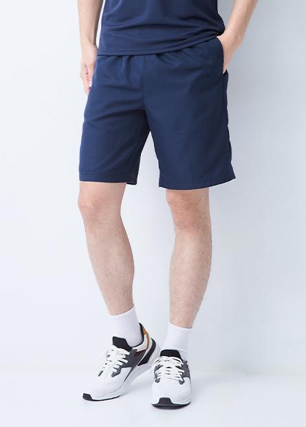 單層鬆緊路跑短褲
