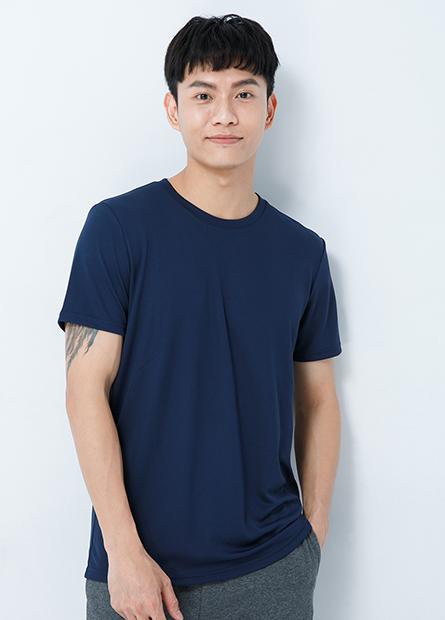素色機能圓領T恤