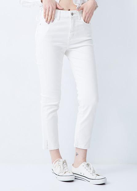 高腰多色緊身牛仔褲
