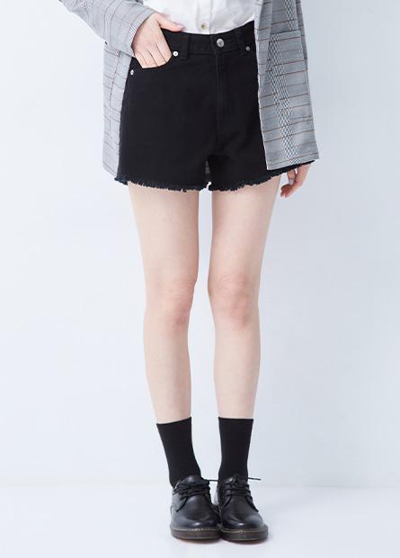 休閒開衩牛仔短褲