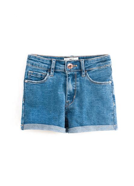 女童基本反摺牛仔短褲