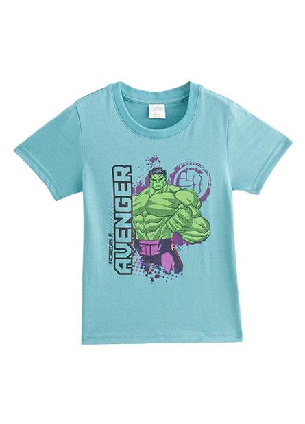 男童MARVEL角色印花T恤