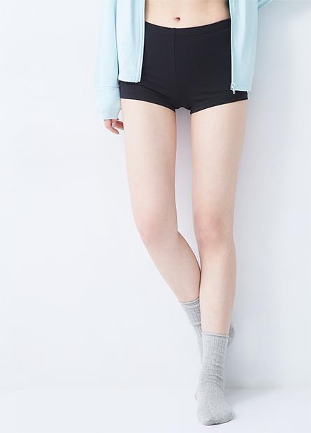 素色棉彈安全褲