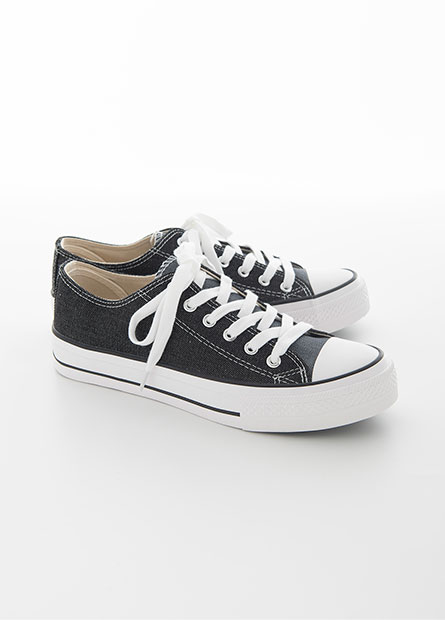 雙色牛仔帆布鞋
