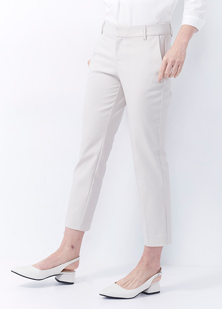 Slim Fit 微光澤七分西裝褲