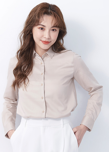 基本軟料長袖襯衫