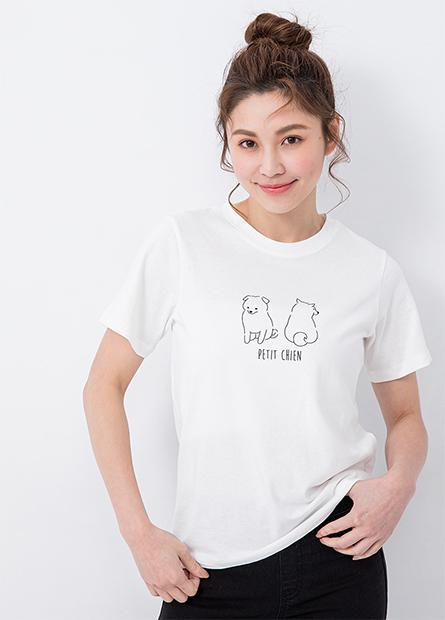 手繪動物印花T恤