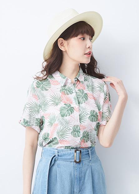 印花短袖襯衫