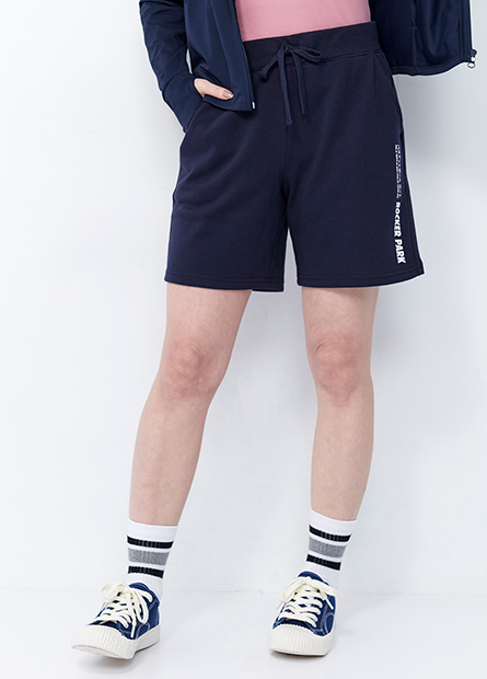 印字棉質五分短褲