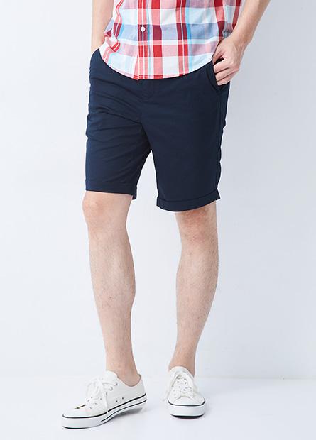 Slim Fit 反摺時裝短褲