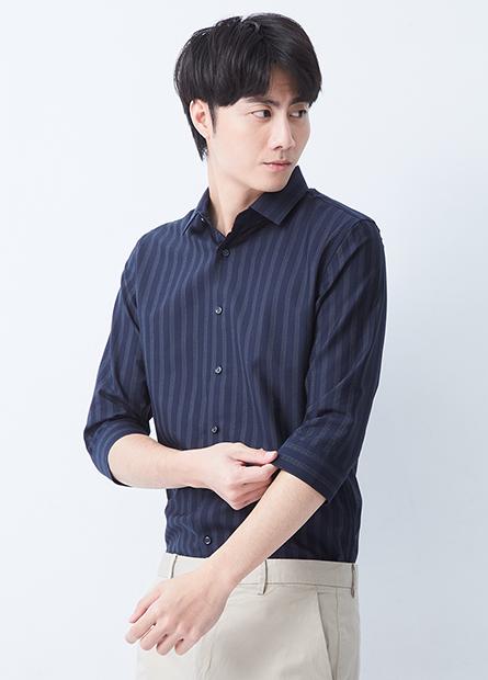 Slim Fit 修身七分袖襯衫