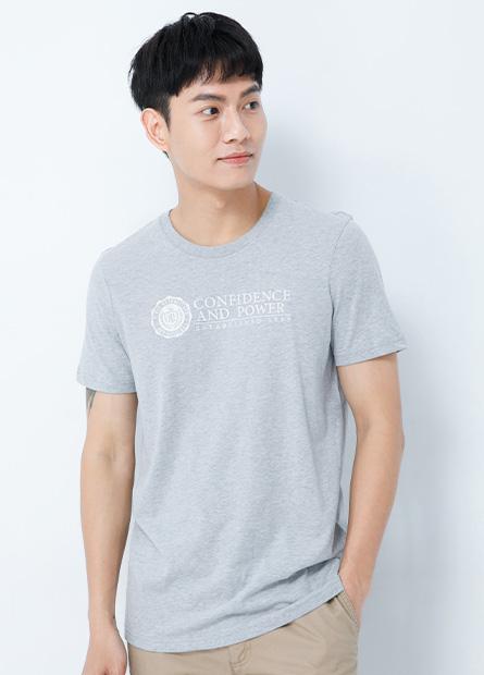 L&F貼布圓領T恤