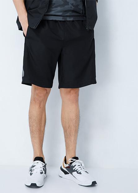 側印花單層運動短褲